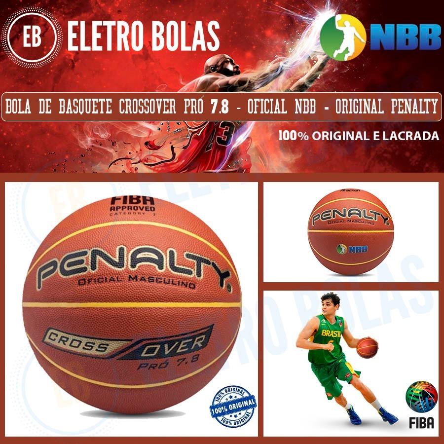 1de7be9dfb ... bola de basquete penalty crossover pró 7.8 original nbb fiba.  Carregando zoom. cdd4a785dcbf98 ...