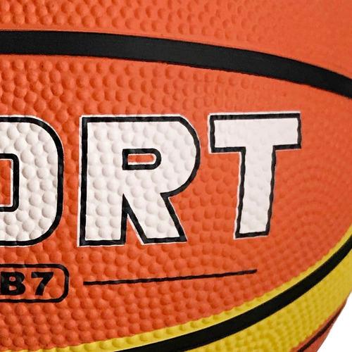 bola de basquete tamanho 7 laranja com amarelo