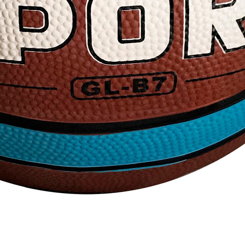 bola de basquete tamanho 7 laranja com azul