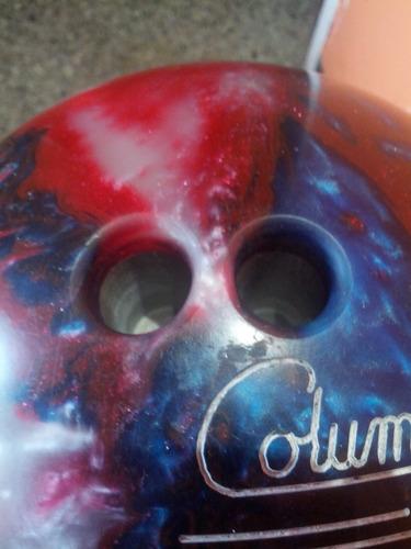 bola de bowling columbia 300 white dot patriot sparkle