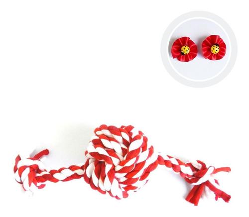 bola de corda trançada simples pawise