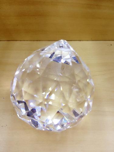 bola de cristal lapidada de 8 cm