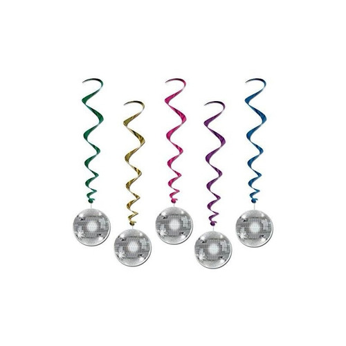 bola de discoteca whirls (5 / pkg) (value 3-pack)