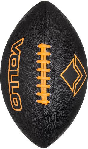 bola de futebol americano preta - vollo [tamanho 9 oficial]