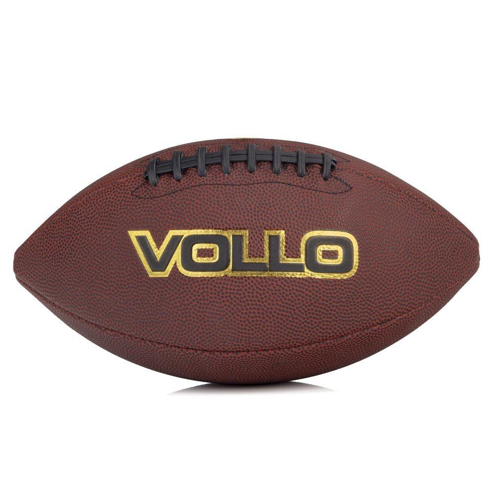 bola de futebol americano vollo marrom - tamanho 9. Carregando zoom. 5c06244214f61