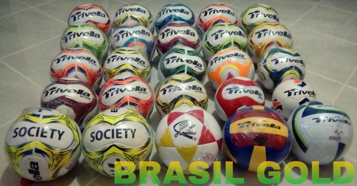 dac69ce82b Bola De Futebol De Campo 100% Pu Original - Brasil Gold - R  65