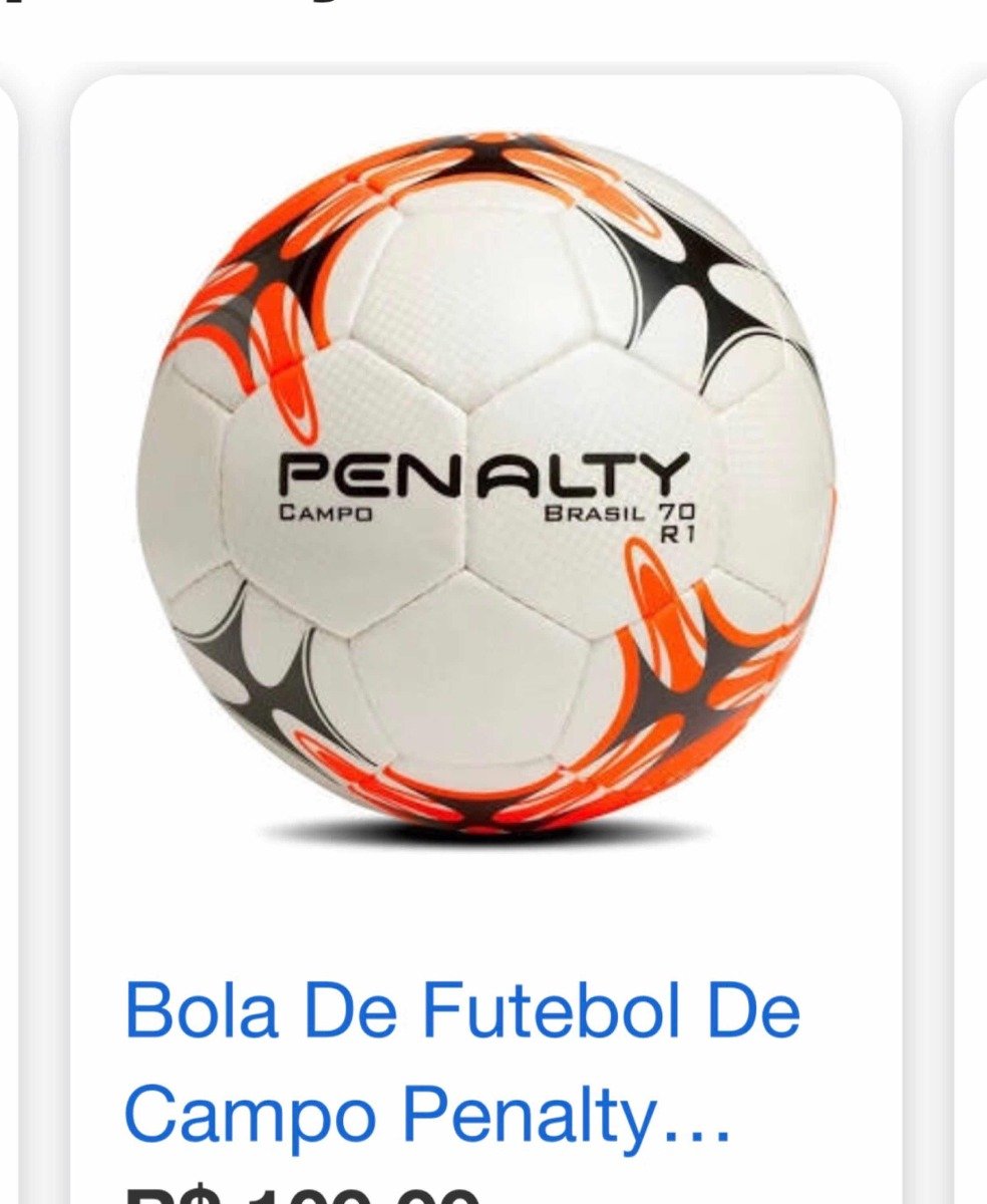 c76cb880e3 Bola De Futebol De Society Penalty Brasil 70 R1 Style Tênis - R  99 ...