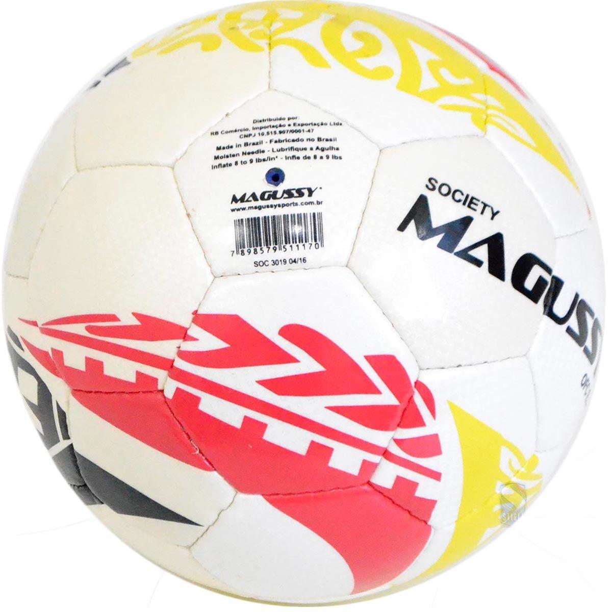 bola de futebol society magussy microfibra costura mão c  nf. Carregando  zoom. fcca93403ea3e