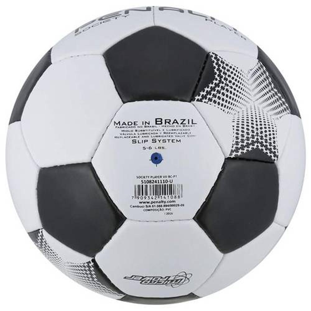 b7e2c69831496 Bola De Futebol Society - Player Vii - Branco E Preto - Pena - R  89 ...