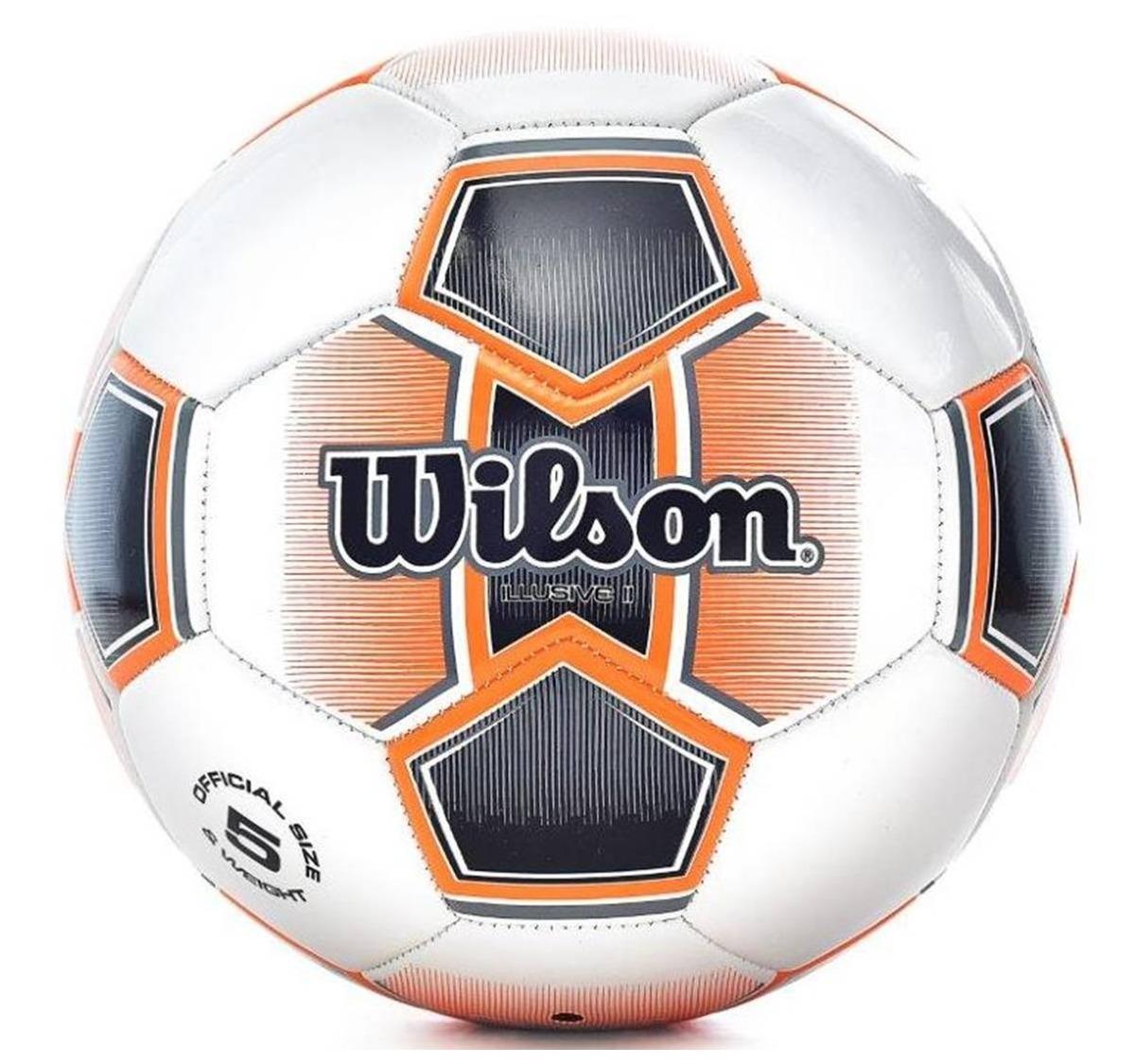 bola de futebol wilson illusive ii tamanho 5 - branca com la. Carregando  zoom. 2bb9f367ab2f4