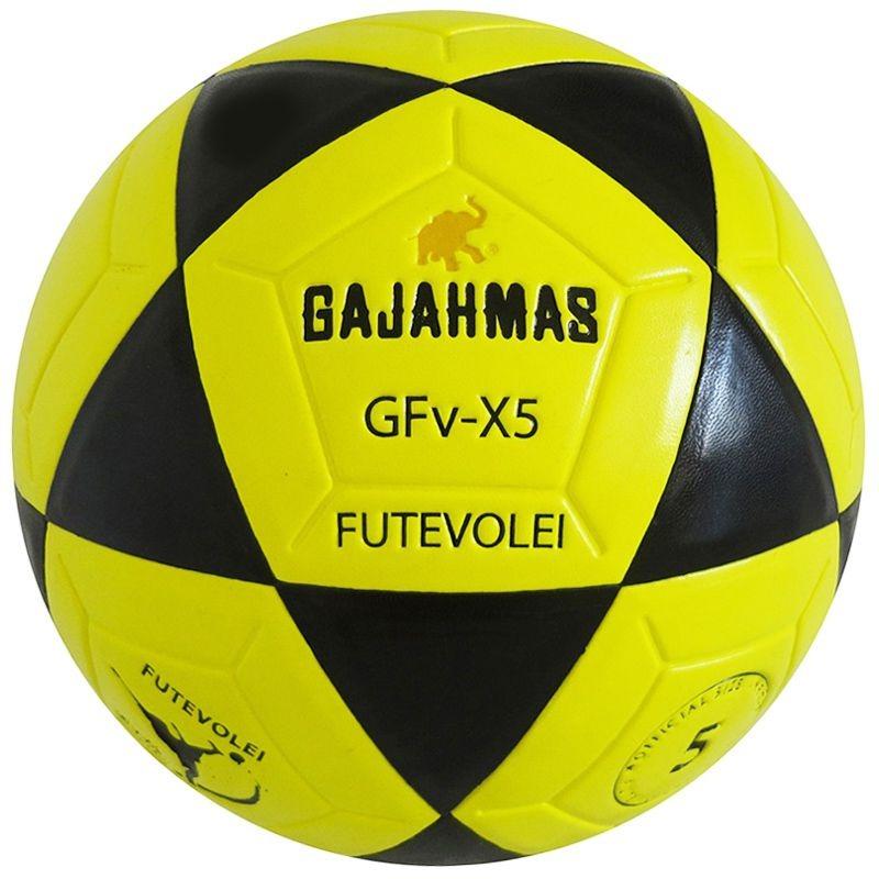 Bola De Futevôlei Gajahmas Gfv-x5 pu 18 Amarela E Preto - R  174 5fbde44e093f3