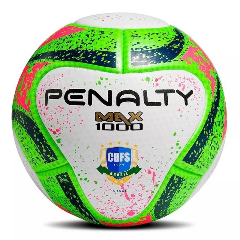 cdd6578798e63 bola de futsal max 1000 penalty termotec oficial fifa cbfs. Carregando zoom.