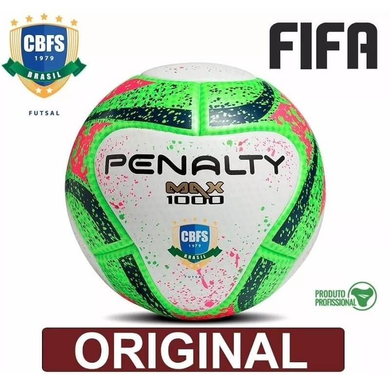 Bola De Futsal Max 1000 Penalty Termotec Oficial Fifa Cbfs - R  219 ... a2273b3d0d368
