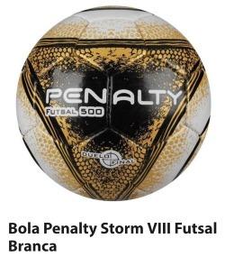 Bola De Futsal Storm 500 Viii Com Costura - Penalty - R  79 082b91a48fe29