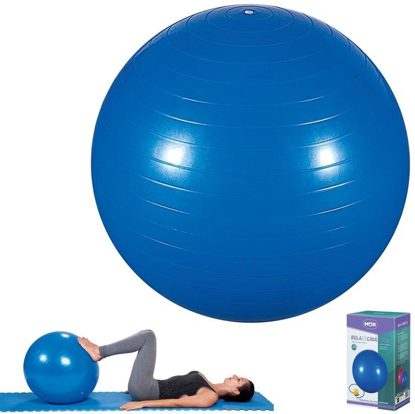 a9798aee83 bola de ginástica 65cm azul para pilates yoga inflador - mor. Carregando  zoom.