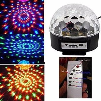bola de luces led con sensores rítmicos,puerto usb y control