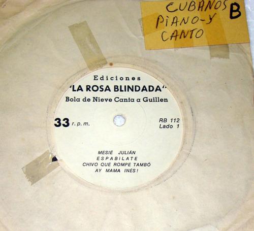 bola de nieve canta a nicolas guillen simple argentino