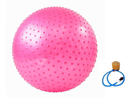 bola de pilates e yoga com massageador - feminina