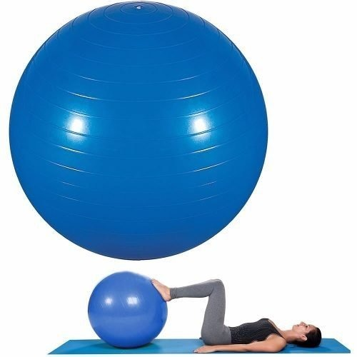Bola De Pilates E Yoga Suiça Fitness 55cm Azul C  Bomba Mor - R  53 ... 9a9c83c52a32