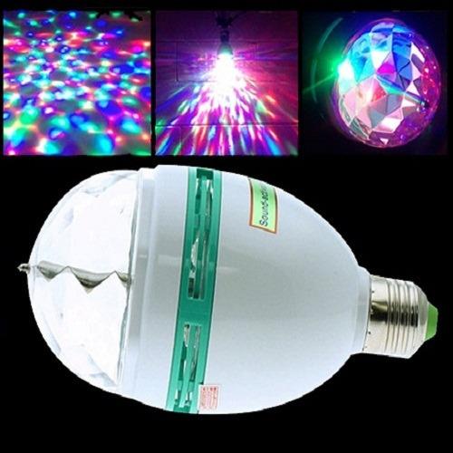 bola de rayos con luces giratoria de colores a leds para dj