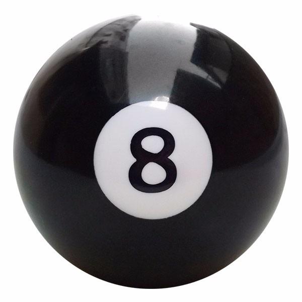 60a3ba43569 Bola De Sinuca Bilhar Avulsa 54mm Numerada N° 8 Preta 10327 - R  16 ...