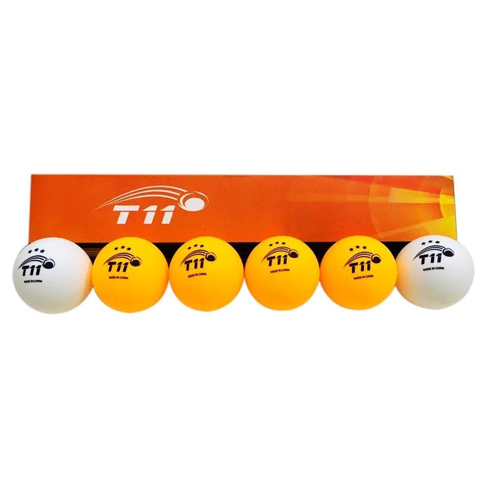 5148781eb2 bola de tenis de mesa t11 3 estrelas kit com 6 unidades. Carregando zoom.