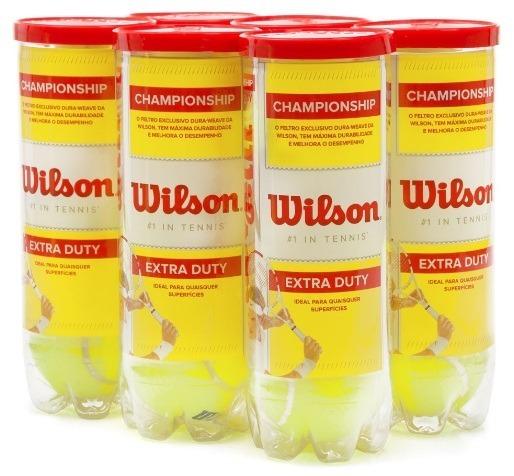 a6ac3023b7 Bola De Tenis Wilson Championship Pack C 6 Tubos C 3 Bolas - R  201 ...