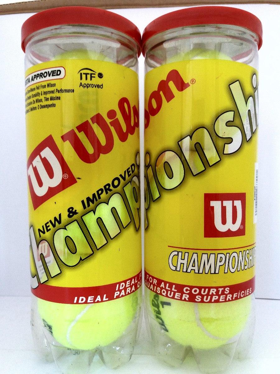 6e10c3015 bola de tênis  wilson championship 2 tubos   6 bolas. Carregando zoom.