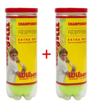 c6328079df Bola De Tênis Wilson Championship 2 Tubos Com 6 Bolas - R  62