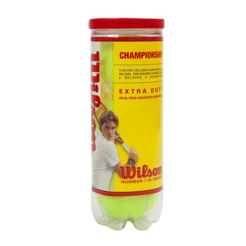 e165049ad0 Bola De Tênis Wilson Championship Extra Duty Tubo 3 Bolas - R  25