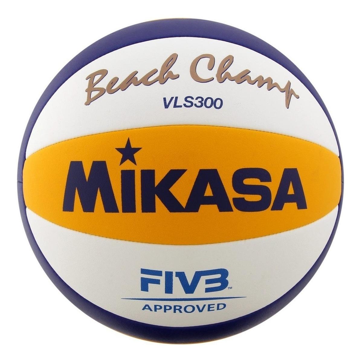 6186b3179e2f7 Bola De Vôlei De Praia Mikasa Vls 300 - R$ 349,00 em Mercado Livre
