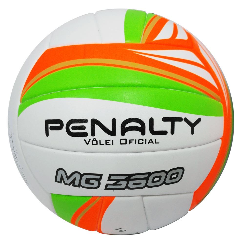 bola de vôlei oficial mg 3600 penalty branca laranja e verde. Carregando  zoom. a07b4bfa60332