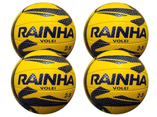 bola de vôlei rainha 2.5 toque macio (kit 4 bolas vôlei)