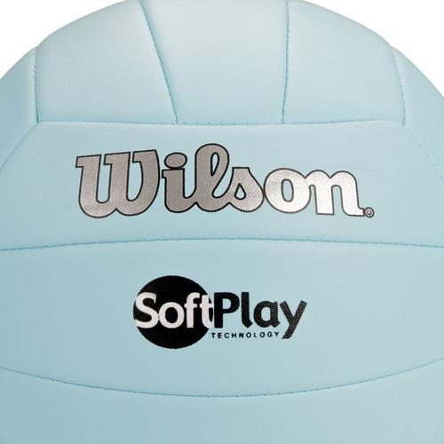 24b7c8dca Bola De Vôlei Wilson Soft Play Azul - R  49