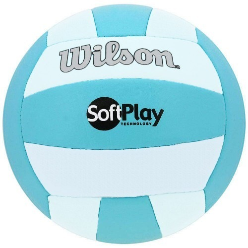 b9fd4200a Bola De Vôlei Wilson Soft Play Azul Branco - R  59