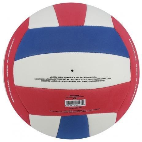 534ad94a6 Bola De Volei Wilson Super Soft Play Bco ver azul - R  75