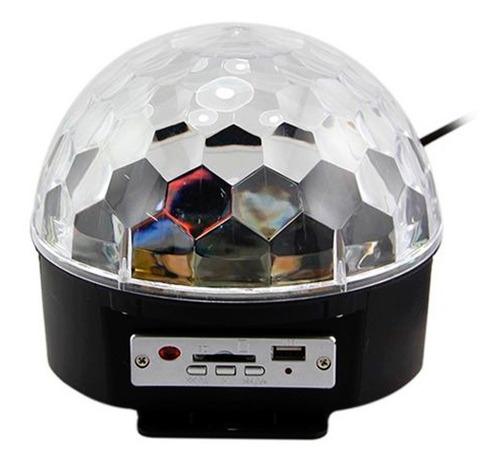 bola disco led ritmica usb, control remoto, luc