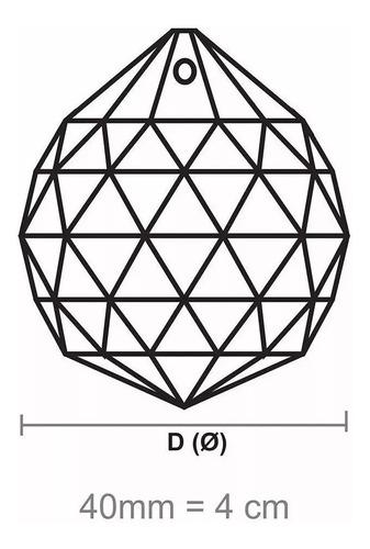 bola esfera de cristal k9 feng shui 4,0 cm para lustres