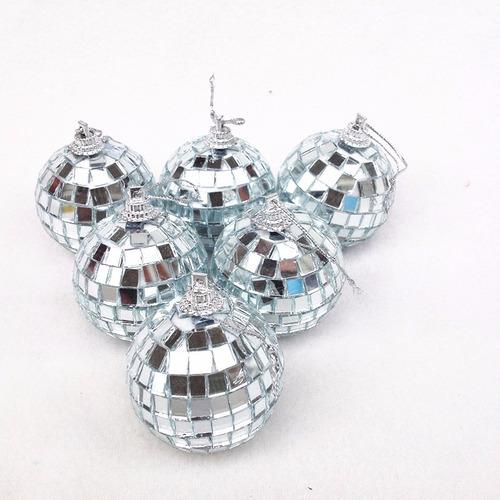 bola espejada n5 esfera vidrio recortado pack x60 unid