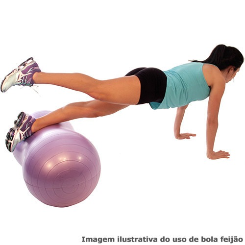d27054a30f7ab Bola Feijão C  Bomba Muvin Yoga Pilates Gym Fit Ball 300kg - R  69 ...