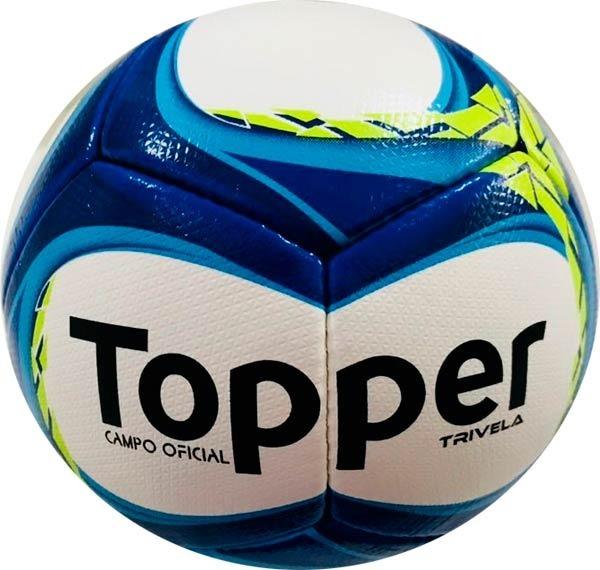 dc0a91a76 Bola Fut Campo Topper Trivela V12 -costurada À Mão - R  149