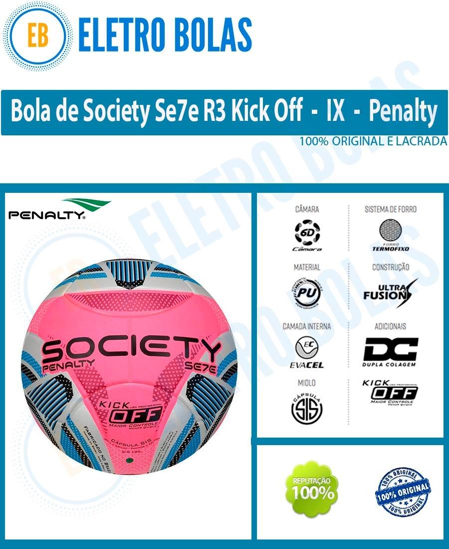 3a40c09a5d bola fut7 society se7e r3 kick off ko ix original - penalty. Carregando  zoom.