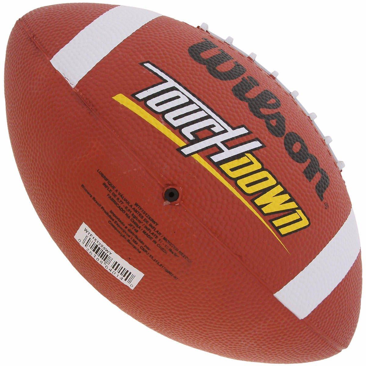 Bola De Futebol Americano Touchdown Wilson - R  55 523a12f9557f0