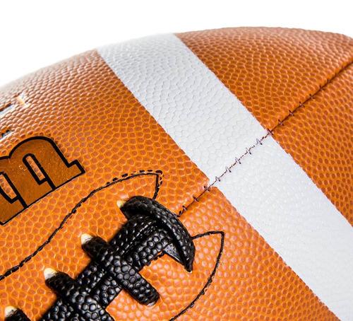 bola futebol americano gst composite oficial nfl - wilson