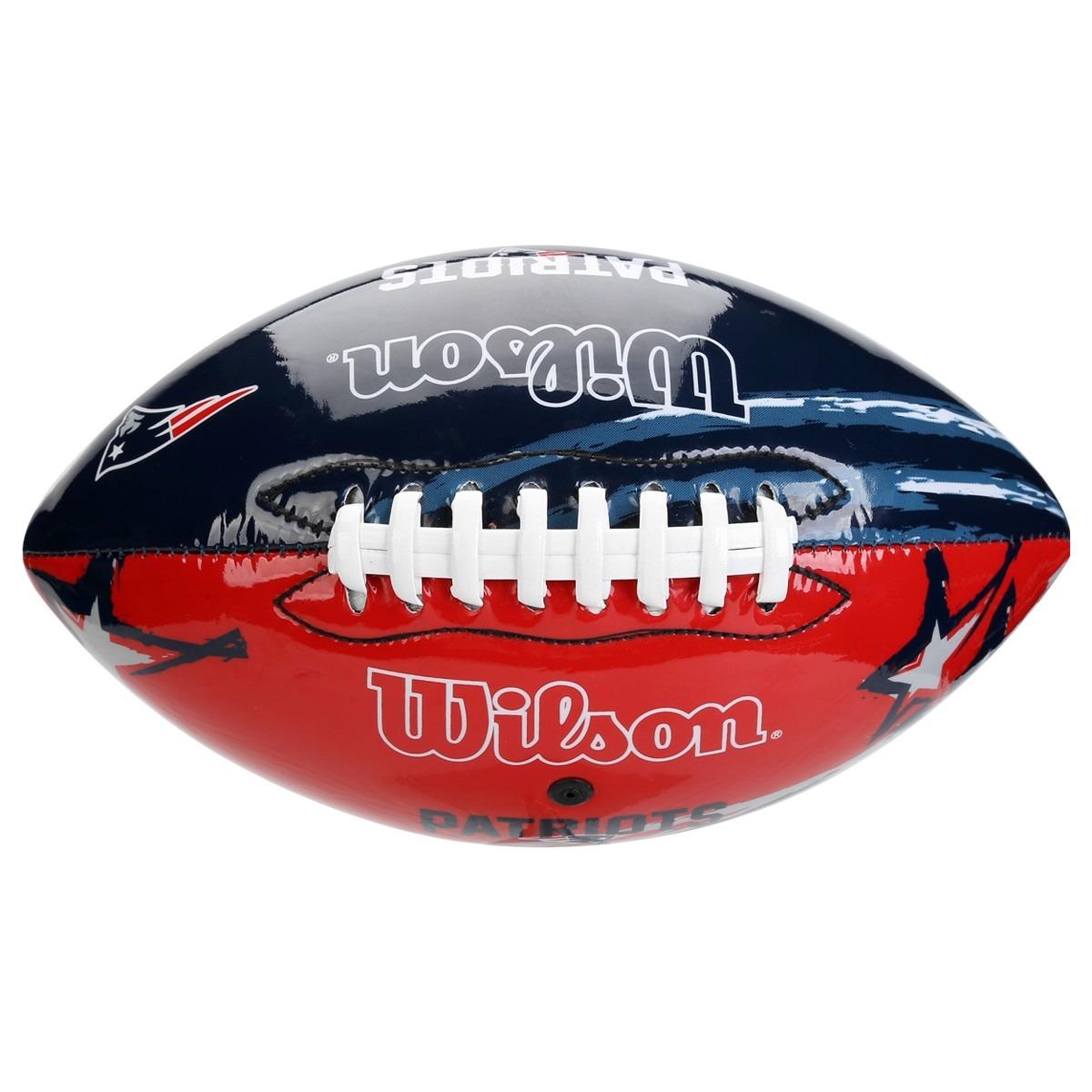 bola futebol americano wilson - nfl - new england patriots. Carregando zoom. bc86062cdc5
