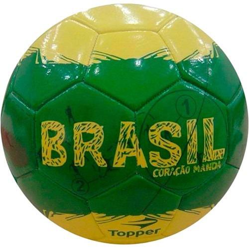 610f7f72bb828 Bola futebol de campo oficial topper brasil em mercado jpg 500x500 Bola  futebol do brasil