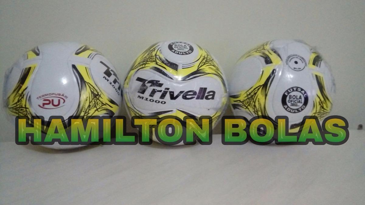 b466a6c7ef bola futebol futsal 100% pu trivella original - brasil gold. Carregando zoom .