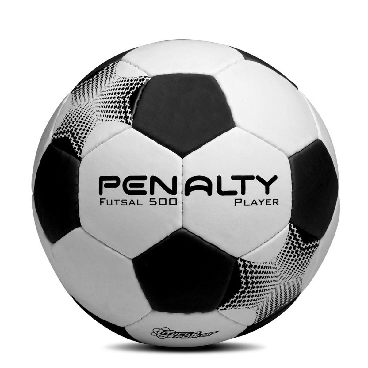 64d94ee224 Bola De Futebol Futsal 500 Player - Branca preta - Penalty - R  49 ...