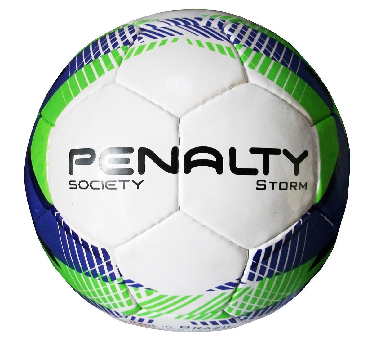 Bola De Futebol Society Penalty Storm Costurada - R  104 637453d638d23