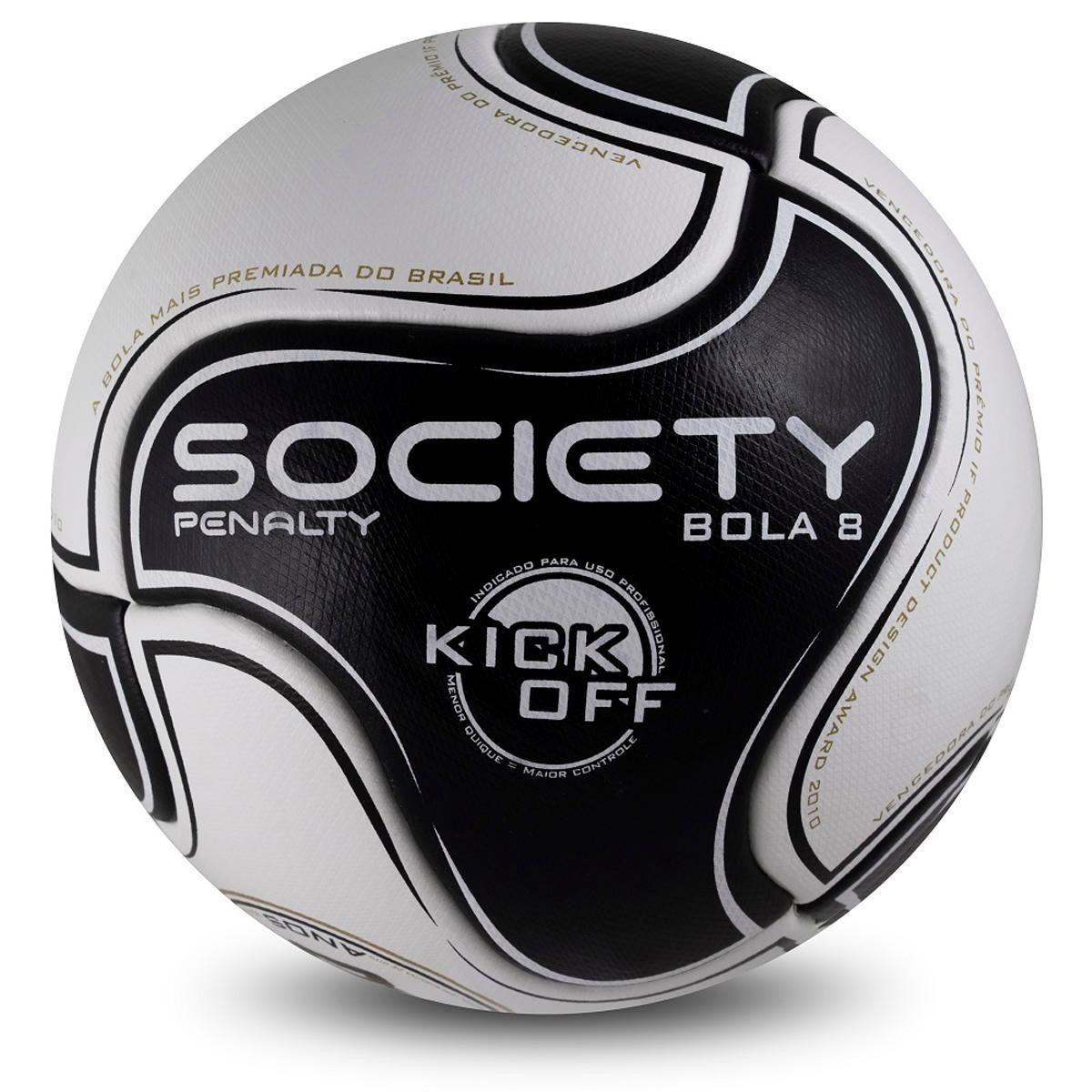 Bola De Futebol Society Kick Off 8 - Penalty - R  135 92bb569f2cdd8